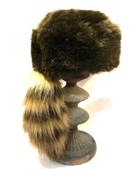 【Used】Raccoon tail fake fur hat / アライグマ尻尾帽子