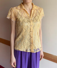 【Used】Flower pattern lace blouse / 花柄ブラウス