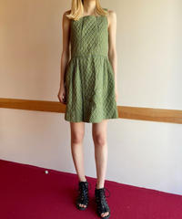【Vintage】1970's Flower quilting one piece / 小花柄キルティングワンピース