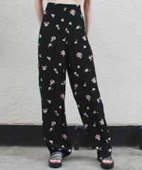 【Vintage】1980s flower pants/フラワーパンツ