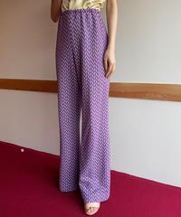 【Vintage】Geometric pattern wide pants / 幾何学模様ワイドパンツ
