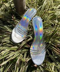 【Used】Rhinestone clear sandals / ラインストーンクリアサンダル