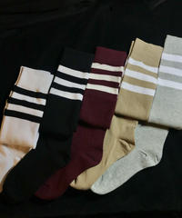 【Selected item】Line knee high socks /ライン入りニーハイソックス mg-106