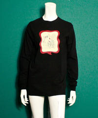 【bed】Original Sticker long sleeve T Shirt / Black