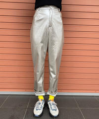 【Used】PU silver spatial pants / スペーシーシルバーパンツ