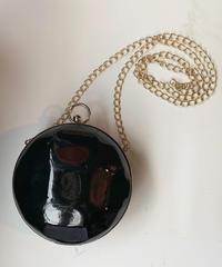 【Used】circle enamel shoulder bag / エナメル丸型ショルダーバッグ