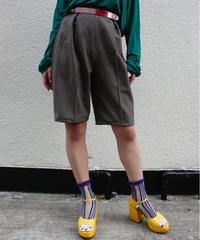 【Used】Slacks half pants / スラックスハーフパンツ