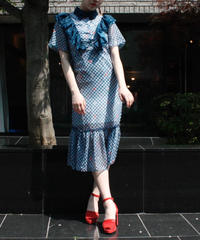 【migration】Houndstooth check one-piece / 千鳥格子ワンピース / mg233