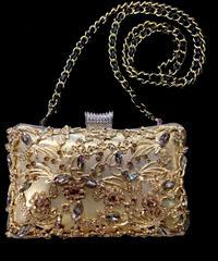 【Used Item】Gold bijou shouder bag / ゴールドビジューショルダーバッグ