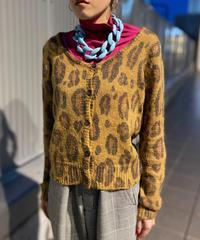 【Used】Leopard knit cardigan / ヒョウ柄ニットカーディガン