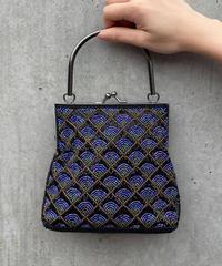 【Used】Shaped design hand bag / 扇模様バッグ