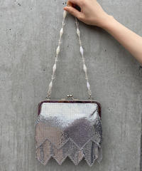 【Used】Silver metal hand bag / シルバーメタルハンドバッグ