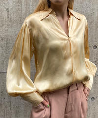 【Vintage】1950's Puff sleeve silk  shirt / 1950年代パフスリーブシルクシャツ