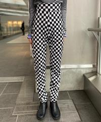 【Used】Checkered pattern high waist pants / チェッカー柄ハイウエストパンツ