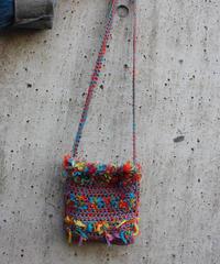 【Used】 Colorful knit shoulder mini bag / カラフルニットショルダーミニバッグ