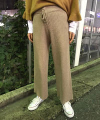 【migration】Lib knit pants / リブニットパンツ