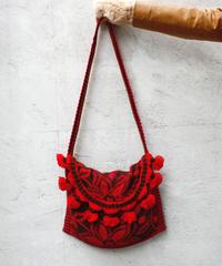 【Used】Flower pattern wool shoulder bag / 花柄ウールバッグ