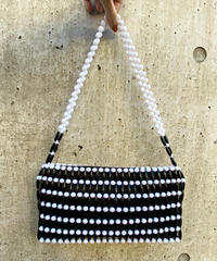 【Used】Monotone beaded bag / モノトーンビーズバッグ