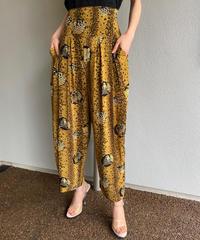 【Used】Leopard print wide  pants / ヒョウ柄ワイドパンツ