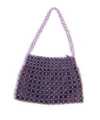 "【Used】Beads hand bag ""lavender"" / ビーズハンドバッグ"