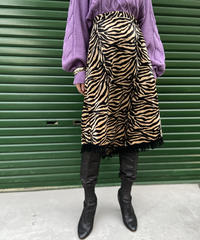 【Used】Tiger pattern fringe skirt / トラ柄フリンジスカート