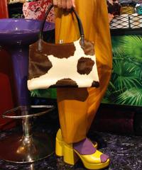 【Used】Cowhide hand bag/アニマル柄ハンドバッグ