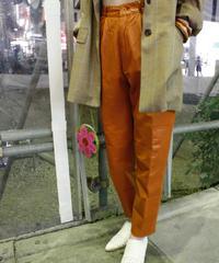 【Used】Leather tapered pants/レザーテーパードパンツ