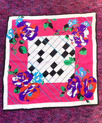 【Used】Flower scarf/花柄スカーフ