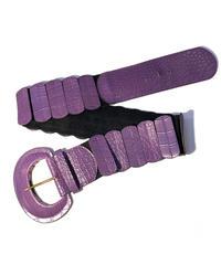 【Used】Leather × Rubber wide belt / 本革×ゴム太ベルト