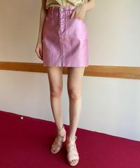 """【Used】Metallic skirt """"Pink"""" / グリッタースカート"""