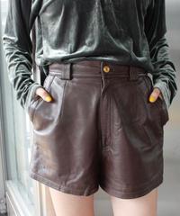 【Used】Leather short pants / レザーショートパンツ