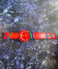 【Used】Rétro design leather belt / レトロデザインレザーベルト