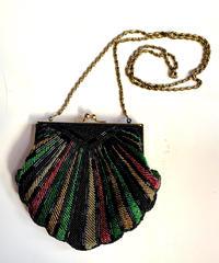 【Used】Beads shell design shoulder bag / ビーズ貝殻モチーフショルダーバッグ