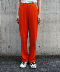 "【Used】Wool slacks ""orange"" / ウールスラックス"