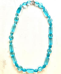 【Used】Clear color necklace / クリラカラーライトブルーネックレス