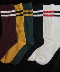 【Selected item】Line color socks / ライン入りカラーソックス / mg265
