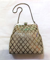 【Used】Bias pin check metal hand bag / バイヤスピンチェックハンドバッグ