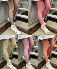 【Selected item】Fishnet stockings / カラー編みタイツ / mg490