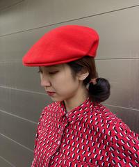 "【Used】""KANGOL ""Red wool beret / 赤ウールベレー帽"