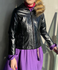 【Used】Enamel zip jacket / エナメル加工合皮ジップジャケット