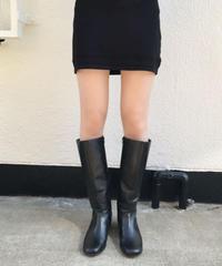 【Used】Square toe long boots / スクエアトゥロングブーツ