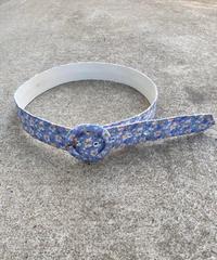 "【Used】Flower pattern belt ""Lavender"" / 花柄ベルト"