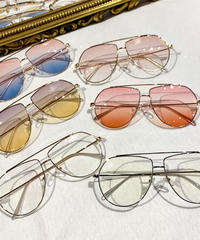 【Selected Item】Clear teardrop sunglasses / mg-212 / クリアティアドロップサングラス