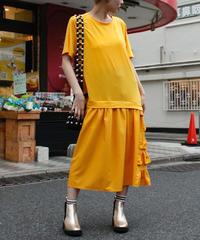 【migration】Frill design T shirt one piece / フリルデザインTシャツワンピース/mg355