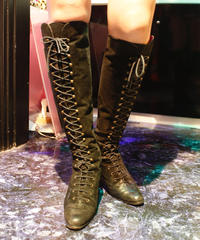 "【Used】""CHARLES JOURDAN"" lace up boots / レースアップブーツ"