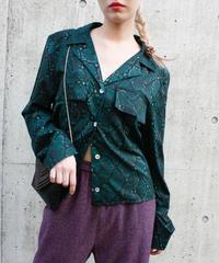 【migration】Python patten shirt / ヘビ柄シャツ/ mg-185