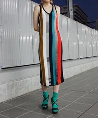 【Used】Stripe design knit one piece  / ストライプニットデザインワンピース