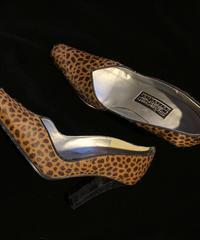 【Used】Leopard heel /レオパード柄ハラコパンプス