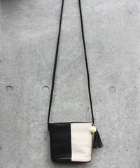【Used】Bi-color leather shoulder bag / バイカラーレザーショルダーバッグ