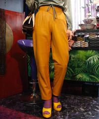 【vintage】Leather high-waist taperd pants / レザーハイウエストテーパードパンツ